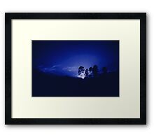Touch of Blue Framed Print