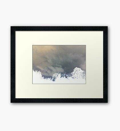 Lines in the Sky Framed Print
