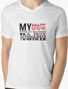 My Heart Belongs - Security Mens V-Neck T-Shirt