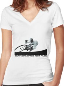 Burn Calories not Fuel Women's Fitted V-Neck T-Shirt