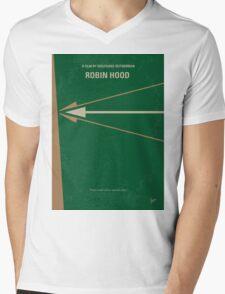 No237 My Robin Hood minimal movie poster Mens V-Neck T-Shirt