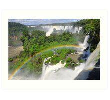 Rainbow at Iguasu Falls, Argentina Art Print
