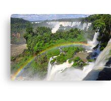 Rainbow at Iguasu Falls, Argentina Canvas Print