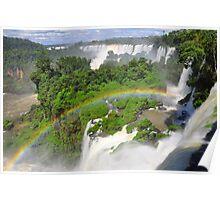 Rainbow at Iguasu Falls, Argentina Poster