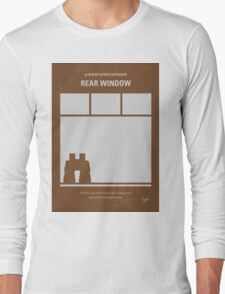No238 My Rear window minimal movie poster Long Sleeve T-Shirt