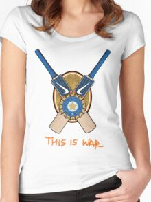 India Cricket - This is War Women's Fitted Scoop T-Shirt