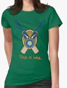 India Cricket - This is War Womens Fitted T-Shirt