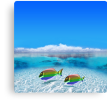 Gay Fishes in Polynesia Canvas Print