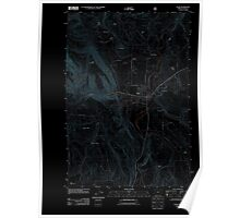 USGS Topo Map Oregon Elgin 20110824 TM Inverted Poster