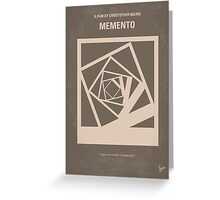 No243 My Memento minimal movie poster Greeting Card