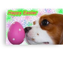 Happy Easter ~ Cavalier King Charles Spaniels Canvas Print