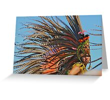 Aztec Indian  Greeting Card
