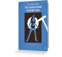 No246 My THE SHAWSHANK REDEMPTION minimal movie poster Greeting Card