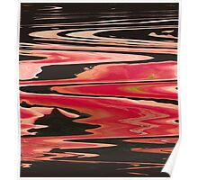 River of Fire Abstract Poster