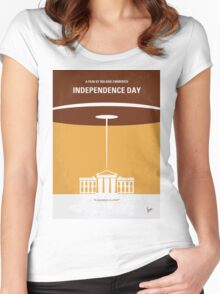 No249 My INDEPENDENCE DAY minimal movie poster Women's Fitted Scoop T-Shirt