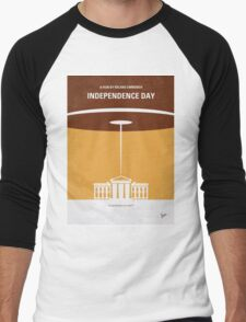 No249 My INDEPENDENCE DAY minimal movie poster Men's Baseball ¾ T-Shirt