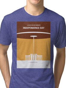 No249 My INDEPENDENCE DAY minimal movie poster Tri-blend T-Shirt