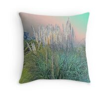 Pampas Grass in Pastel Colors Throw Pillow