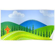 Rolling Green Hills Poster