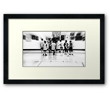 team togetherness Framed Print