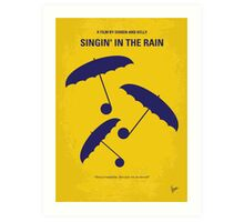 No254 My SINGIN IN THE RAIN minimal movie poster Art Print
