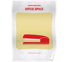 No255 My OFFICE SPACE minimal movie poster Poster