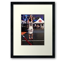 JHutch jump shot Framed Print