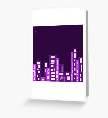 Purple City Greeting Card