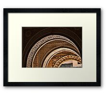Moorish arches in the Alhambra Place in Granada Spain  Framed Print