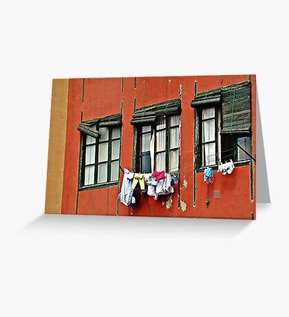 Three Windows Greeting Card