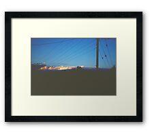 Miles Apart Framed Print