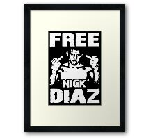 Free Nick Diaz Framed Print
