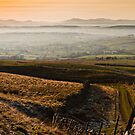 View of the North Cumbrian Mountains. UK by David Lewins