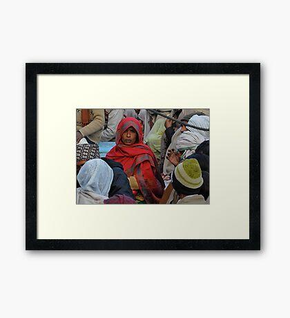 varanasi pilgrim Framed Print