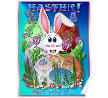 Easter!  Get into it..(blue) Poster