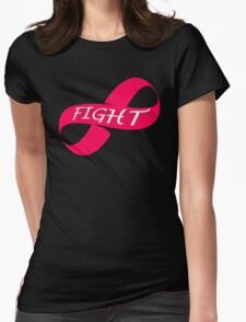 Infinity Fight Breast Cancer Womens Fitted T-Shirt