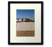 Cannon Beach Single Seagull Framed Print