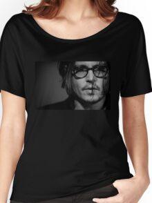 Monochrome Johnny Depp Women's Relaxed Fit T-Shirt