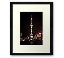 Oriental Pearl TV Tower. Framed Print