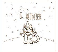 Love winter. Photographic Print
