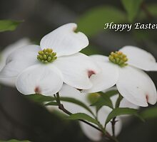 Happy Easter Dogwood Tree by DebbieCHayes
