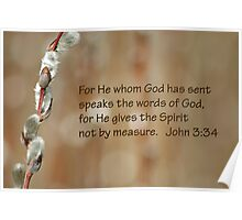 Not by measure John 3:34 Poster