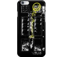 Smile! You're at 221B - yellow, gritty iPhone Case/Skin