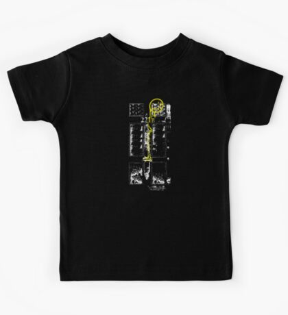 Smile! You're at 221B - yellow, gritty Kids Tee