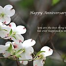 Dogwood Tree - Happy Anniversary by DebbieCHayes