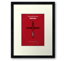 No263 My DRACULA minimal movie poster Framed Print