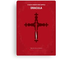 No263 My DRACULA minimal movie poster Canvas Print
