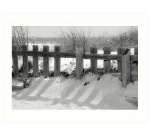 Boardwalk fence Art Print