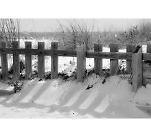 Boardwalk fence Photographic Print