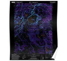 USGS Topo Map California Weed Valley 295688 1993 24000 Inverted Poster